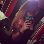 Kailyn Lowry sleeve tattoo skull and butterflies
