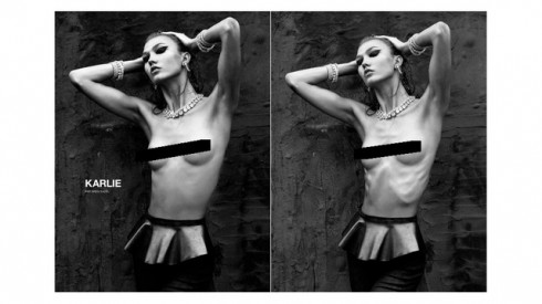 Karlie Kloss Reverse Photoshop