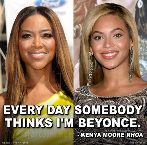 "Kenya Moore and Beyonce side by side ""Every day somebody thinks I'm Beyonce"""