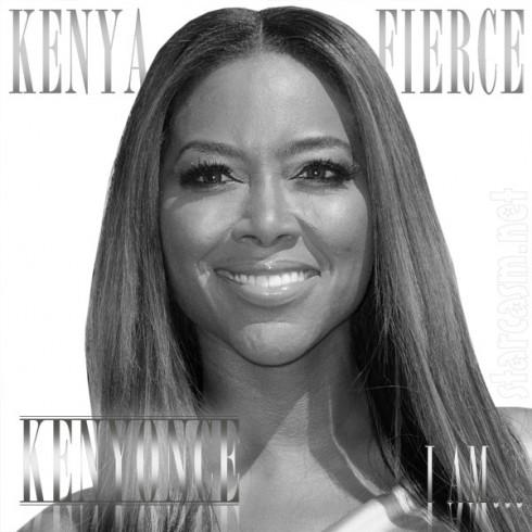 Kenya Moore I Am Kenya Fierce Beyonce parody album cover Kenyonce