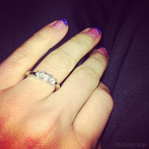 Mackenzie Douthit engagement ring from Josh McKee January 2013