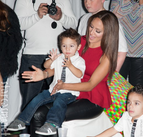 Melissa Gorga and son Joe Gorga Jr.