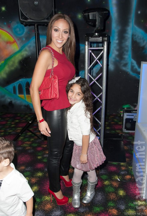 Melissa Gorga and daughter Antonia Gorga at Gia Giudice's 12th birthday party