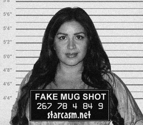 Fake Shahs of Sunset Mercedes MJ Javid mug shot photo