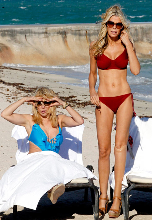 Ramona Singer and Aviva Drescher bikini photos in St. Barths