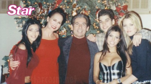 Ellen Kardashian with Robert Kardashian and Kim Khloe Kourtney and Rob