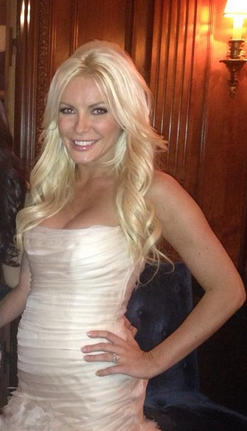 Crystal Harris wedding dress Hugh Hefner
