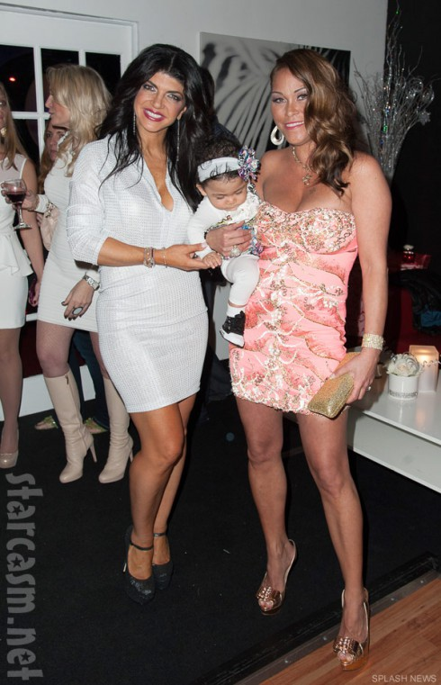 Teresa Giudice and Jennifer Dalton with her daughter Reign
