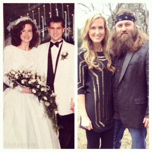 Duck Dynasty Willie Robertson Korie Robertson wedding photo and