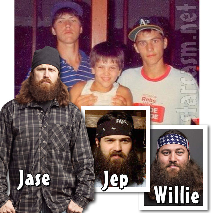 Jep Robertson and Willie Robertson before and after the beards Duck