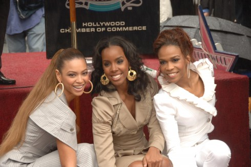Beyonce Knowles, Kelly Rowland and Michelle Williams Destiny's Child honoured with the 2,305th star on the Hollywood Walk of Fame Hollywood, California
