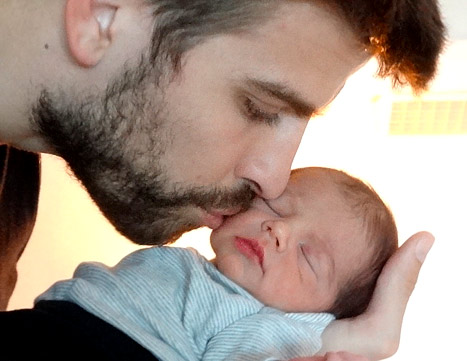 The first photo of Shakira's son Milan Pique Mebarak with dad Gerard Pique