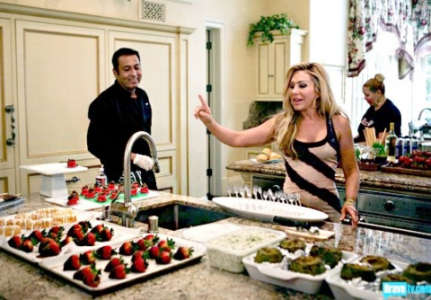 'Real Housewives of Beverly Hills' star Adrienne Maloof with Chef Bernie Guzman