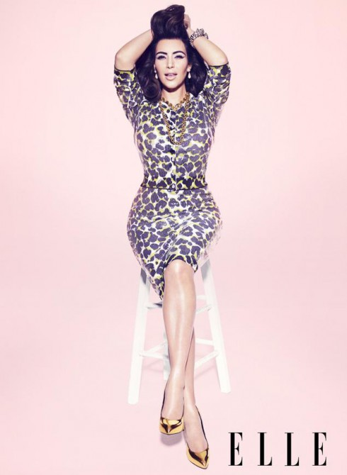 Kim Kardashian in the pages of Elle Magazine's March 2013 issue