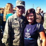 Javi Marroquin in uniform after Air Force training