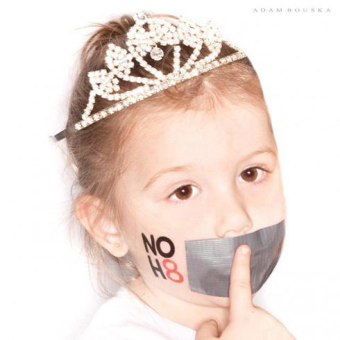 Chelsea Houska's daughter Aubree NoH8 No Hate photo