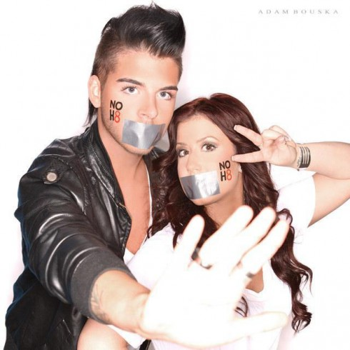 Teen Mom Chelsea Houska and hairstylist pal Landon NoH8 photo