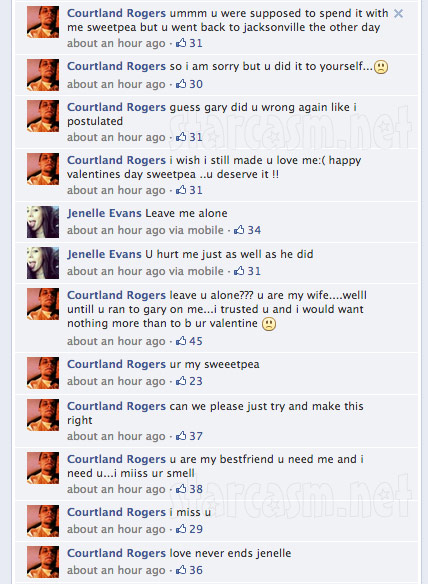 Courtland Rogers Jenelle Evans Valentine&#039;s Day Facebook