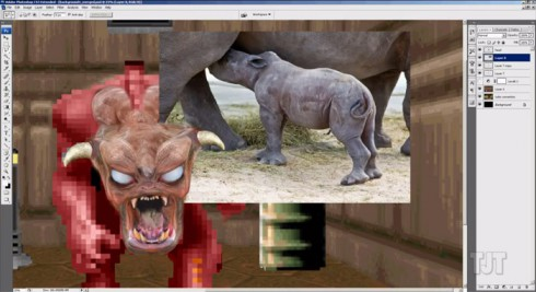 Doom Photoshop video screenshot 1 rhinoceros