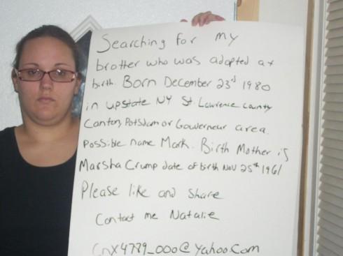 Natalie Jarvis Facebook Appeal