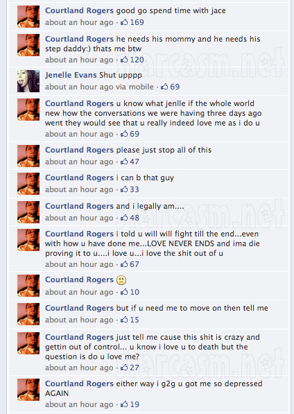 Jenelle Evans Courtland Rogers Valentine&#039;s Day Facebook