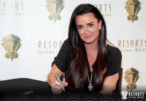Kyle Richards of Real Housewives of Beverly Hills at Resorts Casino for Reality Check event