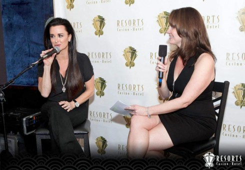 Kyle Richards speaking at Resorts in Atlantic City