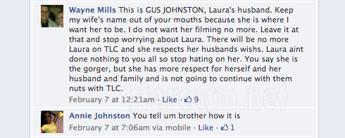 Laura leaving Gypsy Sisters Facebook