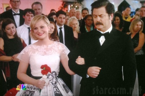 Leslie Knope wedding photo Ron Swanson