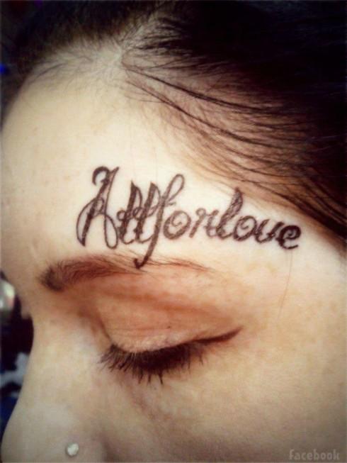 Lesya Toumaniantz All For Love tattoo