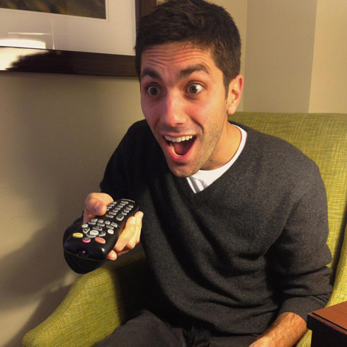 Catfish Nev Schulman excited funny face