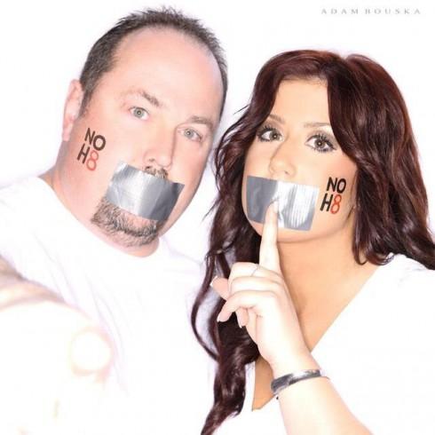 Chelsea Houska and dad Randy Houska NoH8 No Hate photo by Adam Bouska
