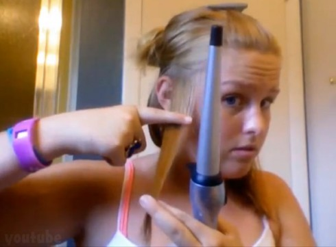 Tori Locklear burns her hair with curling iron in viral Youtube video