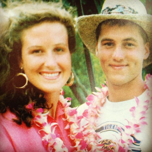 Duck Dynasty Willie Robertson and Korie Robertson honeymoon photo from Hawaii