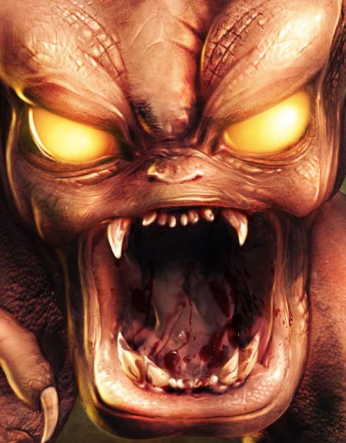 Deviant Art doom pinky demon Photoshop video