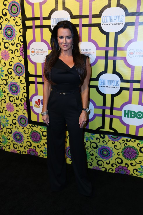 Kyle Richards attends the Family Equality Council's Awards Dinner at The Globe Theatre in Universal City