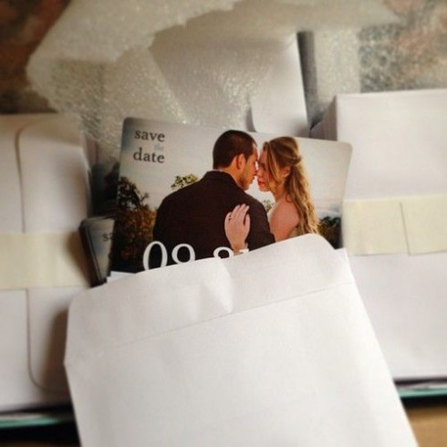 Kailyn Lowry and Javi Marroquin's save the date cards
