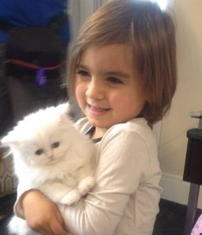 Mason Dash Disick with Kim Kardashian's kitten Mercy