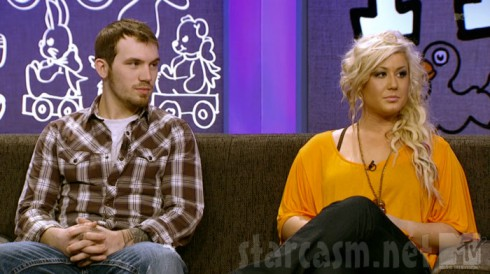 Chelsea Houska and Adam Lind at the Teen Mom 2 Season 3 Reunion with Dr. Drew