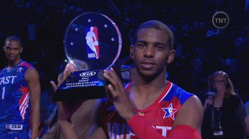 Chris Bosh photobomb at All-Star Game
