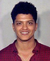 Bruno Mars mug shot photo from cocaine arrest