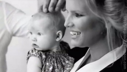 Jessica Simpson with her daughter Maxwell