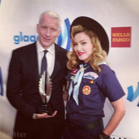 Madonna Anderson Cooper GLAAD Media Awards