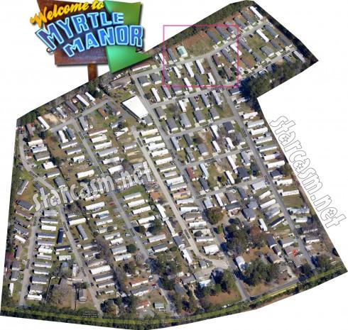 Myrtle Manor overhead map