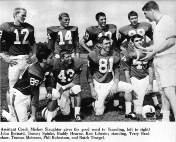 Phil Robertson football photo Louisiana Tech with Terry Bradshaw