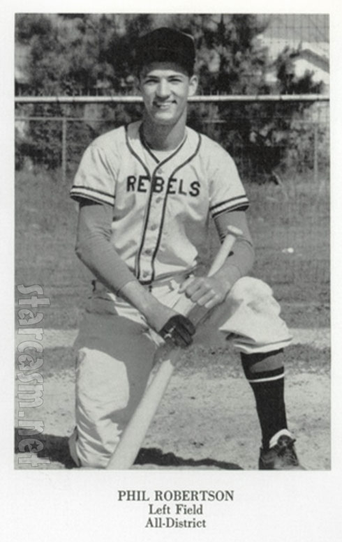 PHOTOS Phil Robertson baseball and track photos from high school