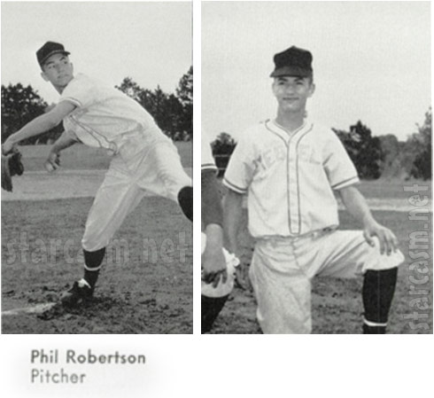 Duck Dynasty Phil Robertson baseball photos from high school yearbook