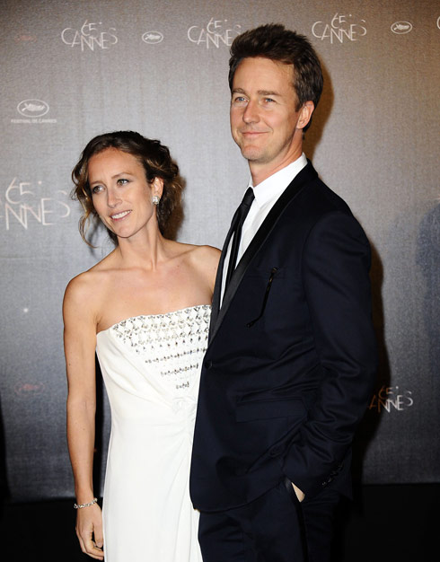 Ed Norton and Shauna Robertson