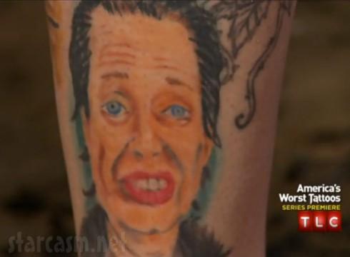 Steve Buscemi tattoo America's Worst Tattoos TLC