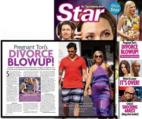 May 2012 Star magazine Tori Spelling Pregnant Tori's Divorce Blowup